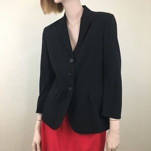 Moschino Italy 100% Virgin Wool Black Blazer